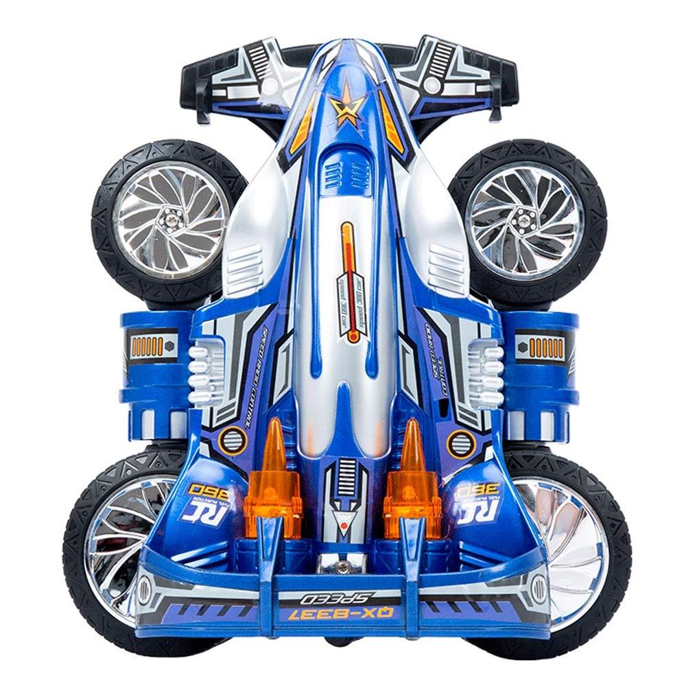 GLBS Kippschaufel Stunt Drift Fernbedienung RC Wiederaufladbare 4WD Rennwagen Sichere & Langlebige Geländewagen 2,4 GHz Hochgeschwindigkeitsrennwagen Funkfernbedienung Spielzeug Für Kinderauto Blau 1 battery