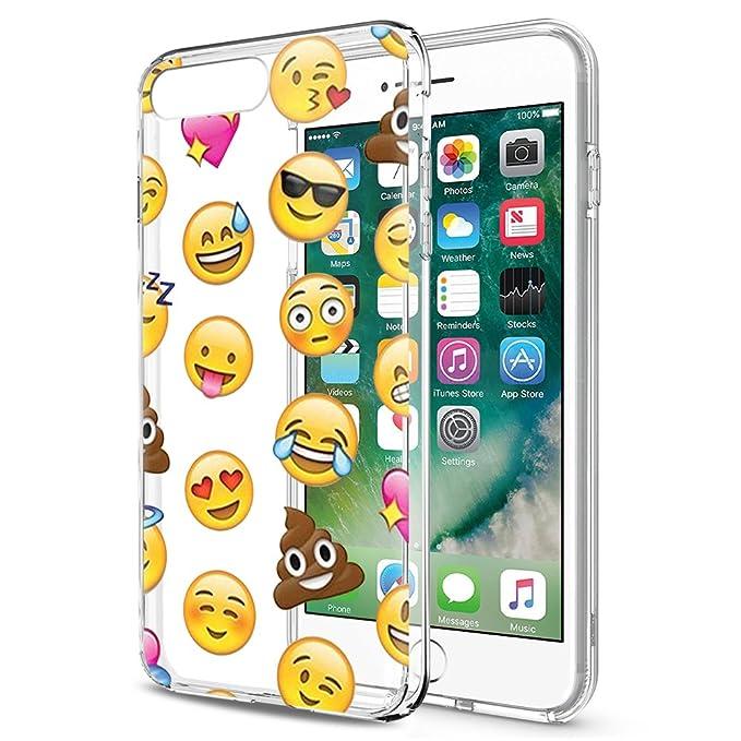 23 opinioni per Eouine Cover iPhone 8/7, Ultra Slim Cover Trasparente con Disegni Morbido