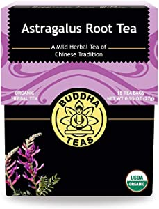 Buddha Teas Organic Astragalus Root Tea | 18 Bleach-Free Tea Bags | Made in the USA | Caffeine-Free | No GMOs