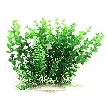 Sourcingmap – Planta artificial de plástico para Acuario Betta paisaje decoración, 21 cm),