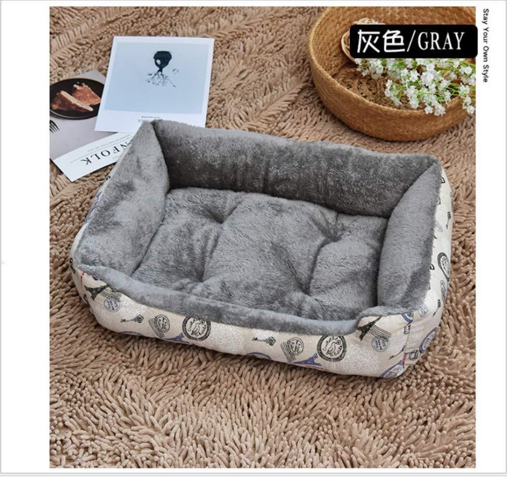 B L(80X60CM) B L(80X60CM) GZDXHN Dog House Cat Nest Winter Warm Small Medium And Large Dog Pet Nest Dog Mat Pet Supplies,L(80X60Cm),B