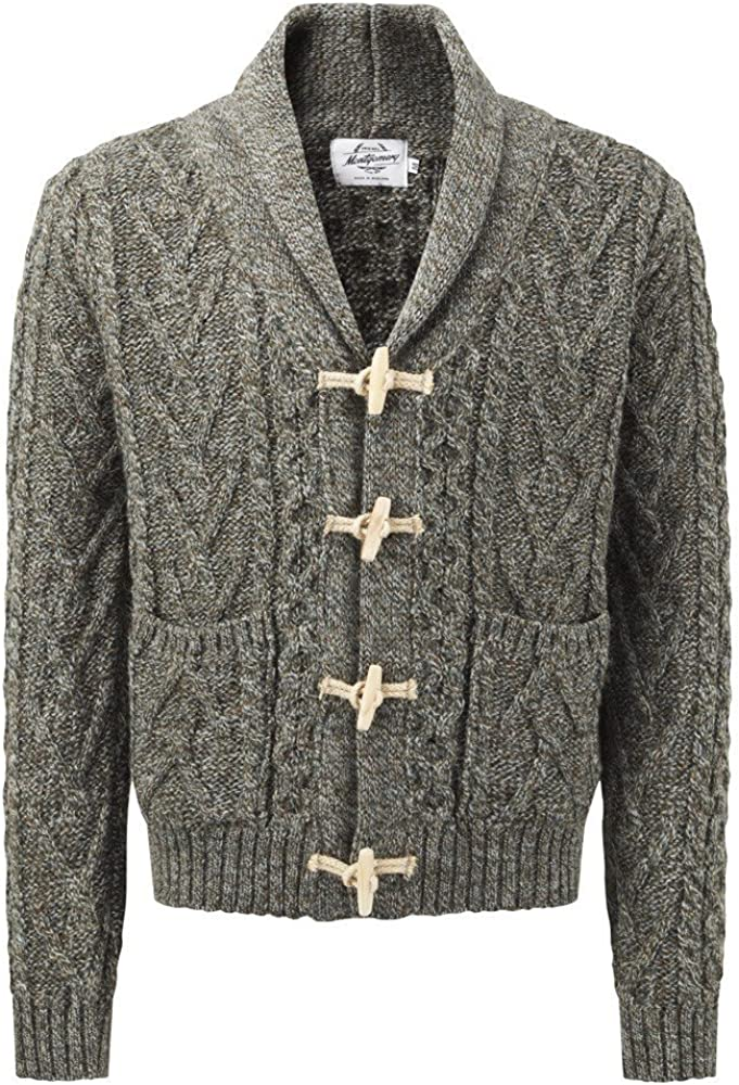 Original Montgomery Mens Toggle Cardigan Derby Tweed