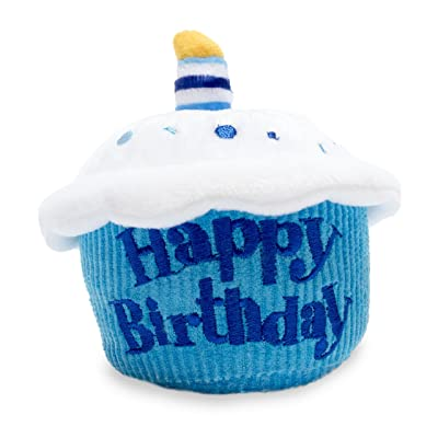Cuddle Barn Birthday Cupcake Squeezer Lights Up and Plays Happy Birthday When Squeezed (Blue): Toys & Games