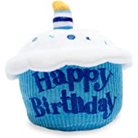 Cuddle Barn Birthday Cupcake Squeezer Lights Up and Plays Happy Birthday When Squeezed Blue