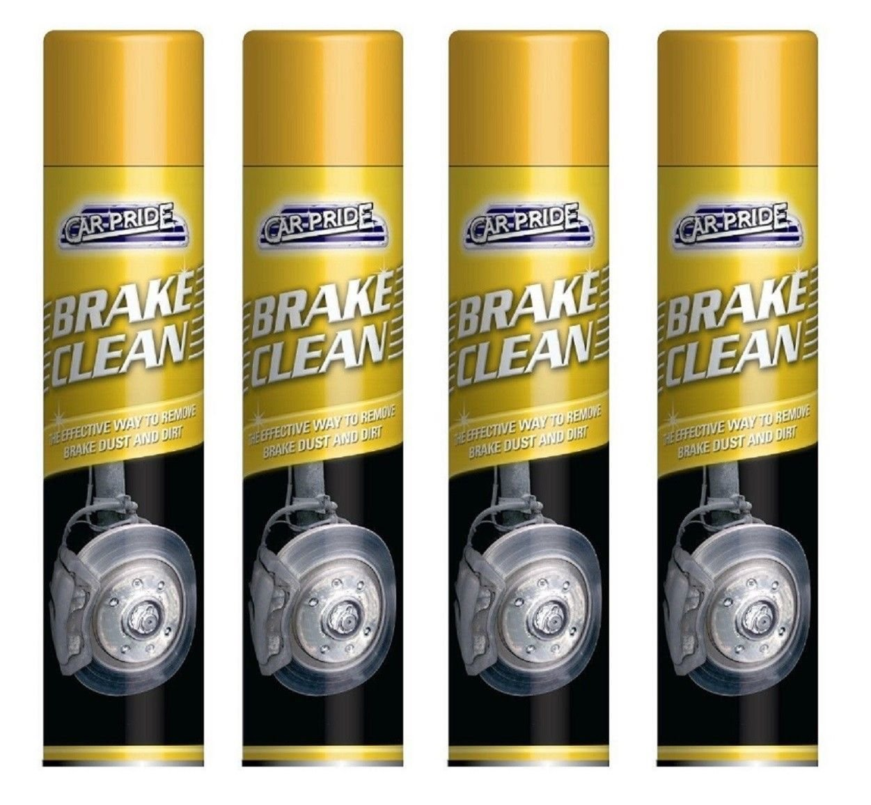 Scotvision® 4 x Carpride Brake Cleaner Spray 300ml Can Effective To Remove Break Dust & Dirt Scotvision®