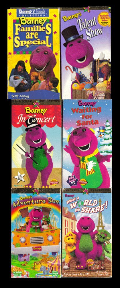 Amazon com: barney set 6 vhs :Barney Rhymes With Mother Goose