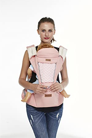 8ce9169cb65 BOYOVO Baby Carrier With Hipseat Baby Backpack Child Sling 6 In 1 For All  Seasons (