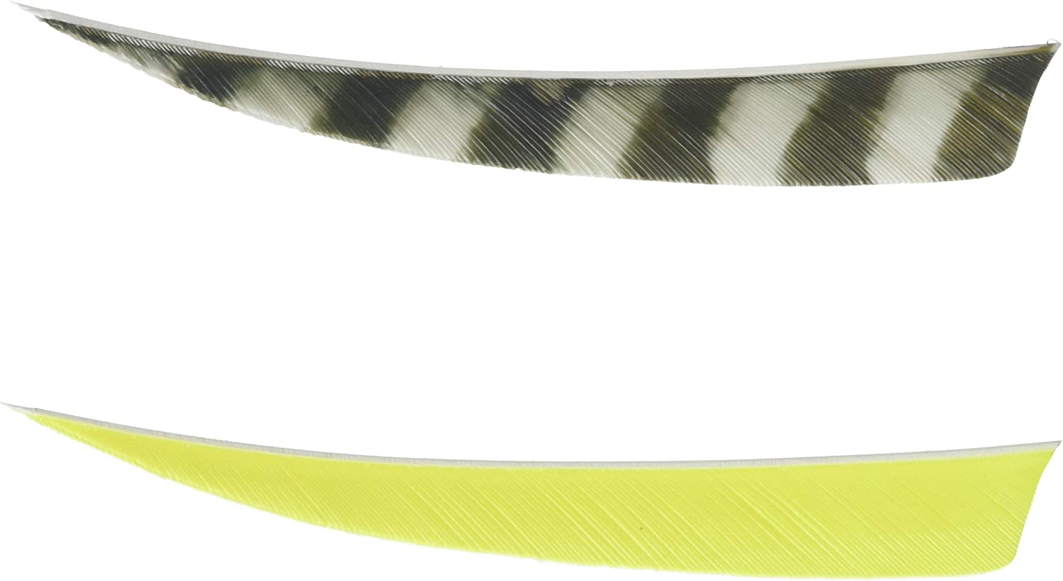 Trueflight Parabolic Feathers Chartreuse 3 in Right Wing 100 pack