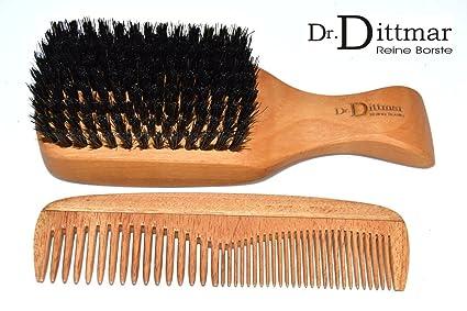 Dr. Dittmar kopfkardätsche peral y cedro peine – Madera peine y cepillo con cerdas de
