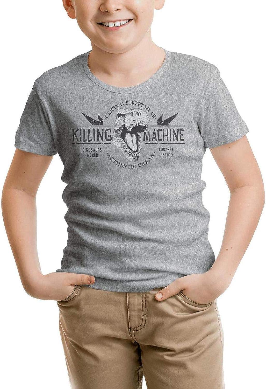 Birthday Cute Dinosaur Enjoy Little Boys T-Shirts Tee Cotton Crew Neck Short Sleeve