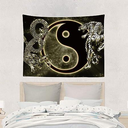 Alfreen Tapiz, Yin Yang Dragon Tiger Yoga Tapestry ...