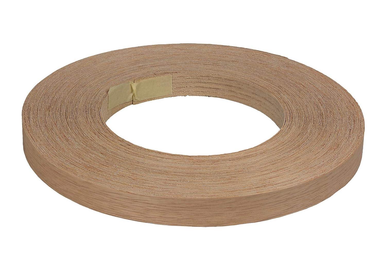 Starkfurnierkante Eiche Rolle /à 50 lfm 2,0 x 24 mm R/ückseite verklebungsfreundlich angerauht