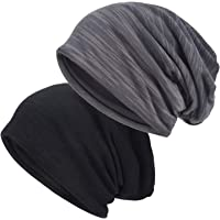EINSKEY Slouchy Beanie for Men/Women 2-Pack Skull Cap Baggy Oversize Knit Hat