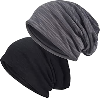 EINSKEY Slouchy Beanie for Men/Women 2-Pack Skull Cap Baggy Oversize Knit Hat