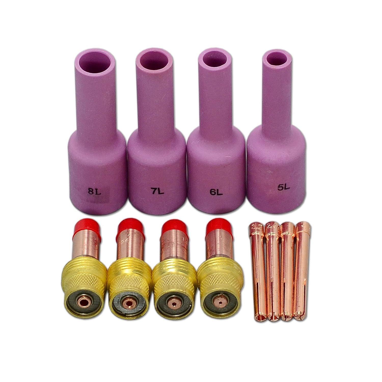 """13 pcs 45V25 Collet Body Gas Lens 10N23 Collet Tig WP-17//18//26 1.6mm 1//16/"""""""