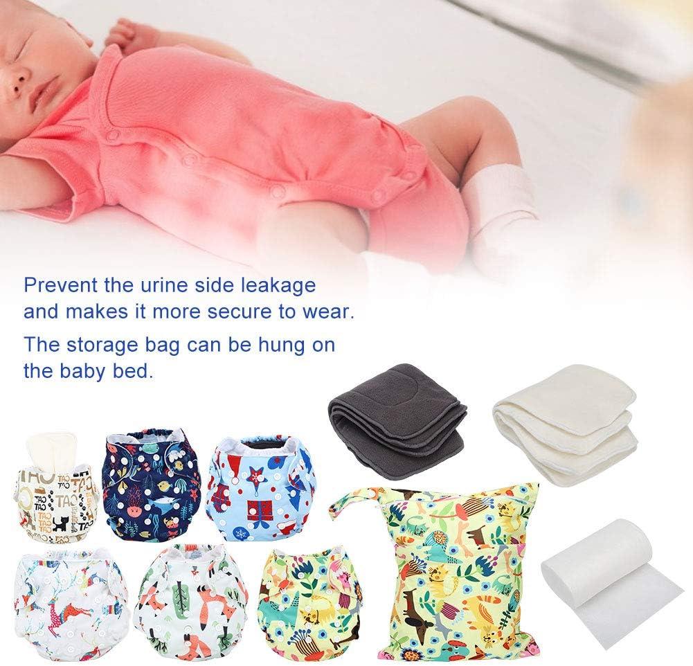Pa/ñales de tela reutilizables almohadillas de pa/ñal para pa/ñales de bolsillo ajustables y ajustables para beb/és y beb/és