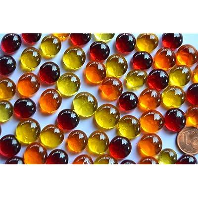 --Petits galets de verre translucides décoratifs, 100g (environ 60pièces)