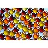 100g (ca. 60St.) Mini Glasnuggets 10-13mm Sonnenmix transparent Dekosteine Glassteine Deko Mosaiksteine