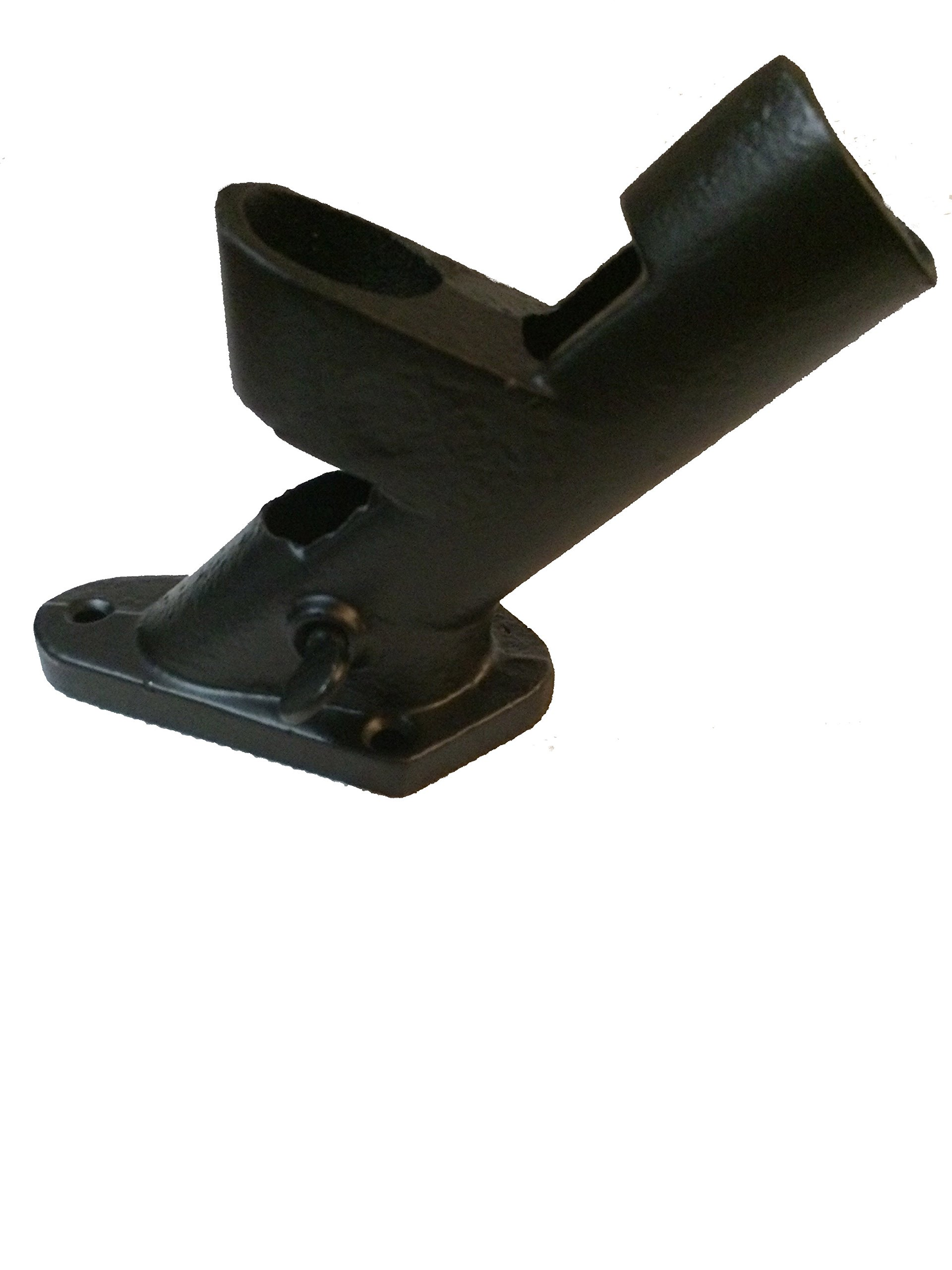 Evergreen Flag Cast Iron 2 Position Wall Mount House and Estate Flag Pole Bracket with Black Finish, 2.5 W x 6.5 H inches