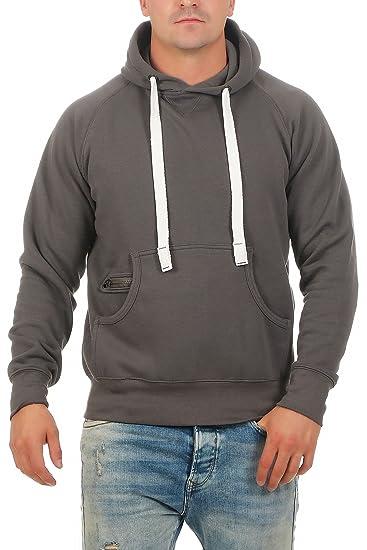 Happy Clothing Herren Pullover mit Kapuze Hoodie Pulli Kapuzenpullover