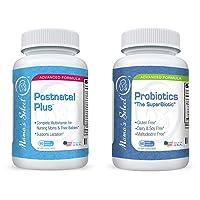 Mama's Select Probiotics and Postnatal Vitamins Bundle for Breastfeeding and Postpartum...