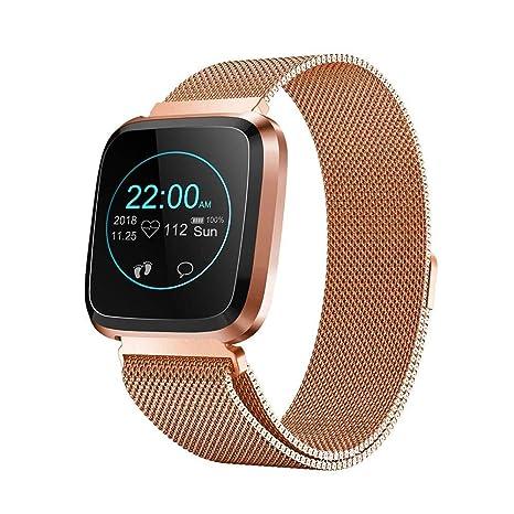 Reloj Inteligente, IP68 A Prueba De Agua Smartwatches, Monitor De Ritmo Cardíaco, Podómetro Para Niños Mujeres Hombres, Reloj Inteligente Bluetooth ...