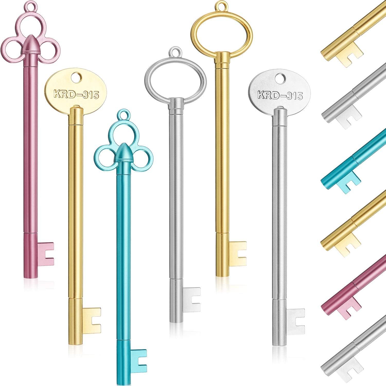 36 Pieces Key Shape Pen Vintage Key Gel Ink Pens Cute Fancy Ballpoint Pens Black Fine Point Pen for Office Stationary School Supplies