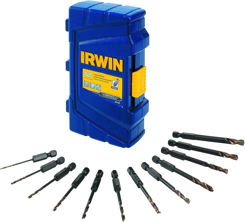 1-Piece IRWIN 1871044 Impact Performance Series 1//2-Inch Turbomax Black and Gold Drill Bit