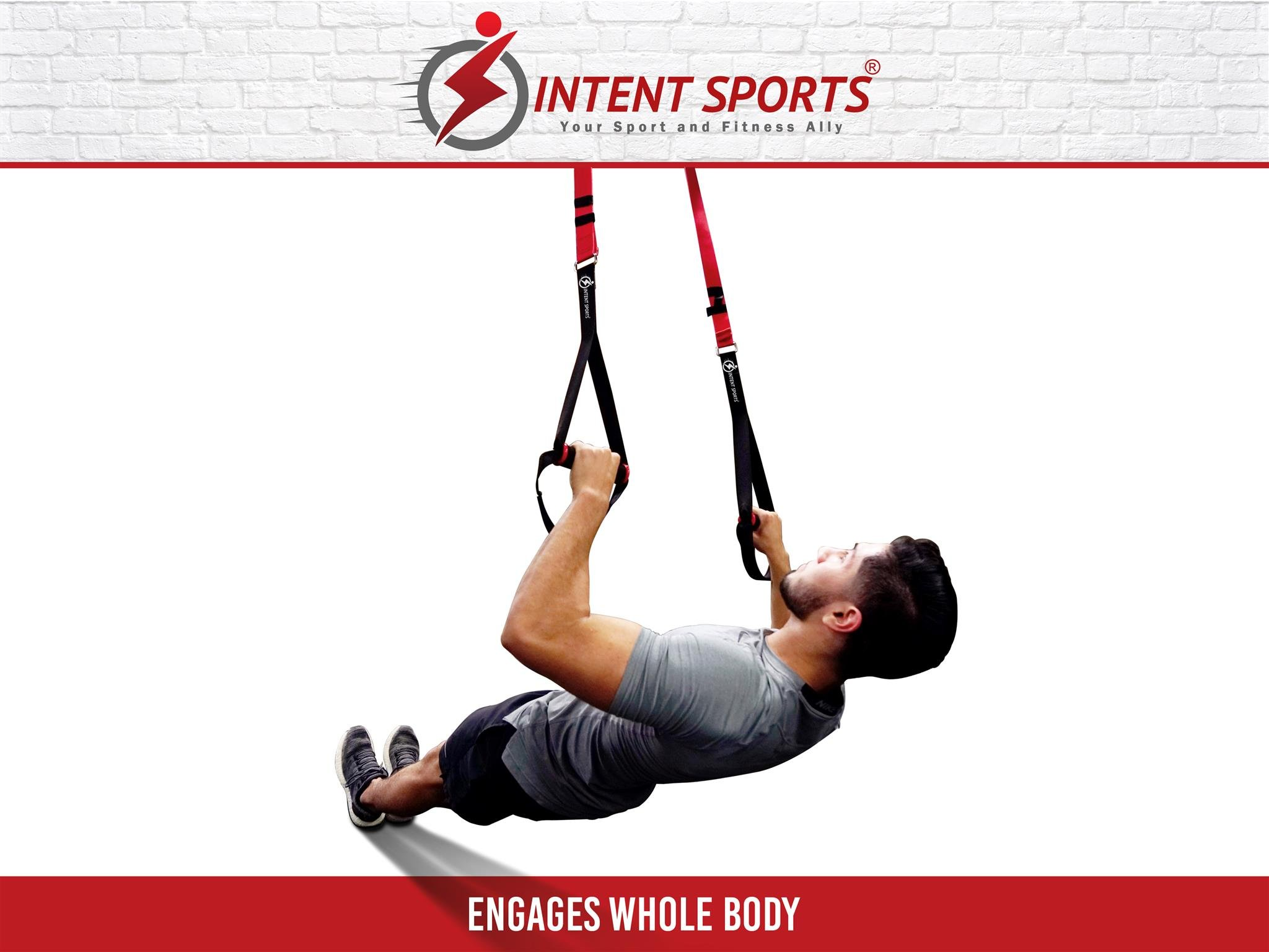Bodyweight Fitness Resistance Trainer Kit with Pro Straps for Door, Pull up Bar or Anchor Point. Lean, Light, Extra Durable for Complete Body Workouts. E-Book ''12 Week Program'' (Patent Pending) by INTENT SPORTS (Image #7)