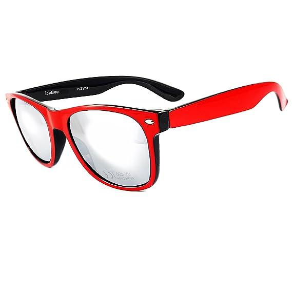 Gafas de sol con lentes en dos tonos reflectantes, estilo vintage, clásico