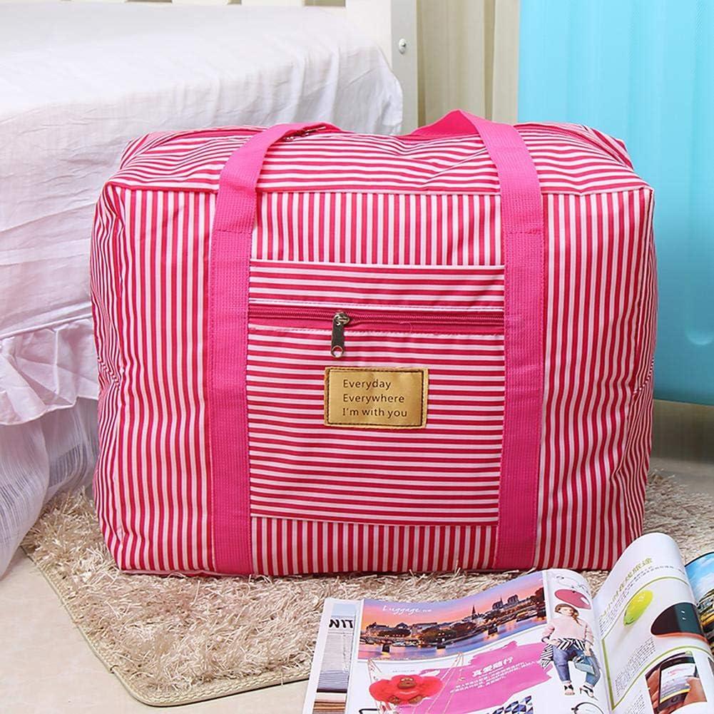 AFfeco Women Portable Waterproof Clothing Storage Bag Travel Luggage Organizer B