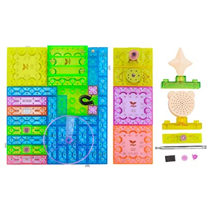 amazon com boogu intergrated eletronic circuit building blocksboogu intergrated eletronic circuit building blocks study entertainment toys set electronics discovery kit 120 projectors