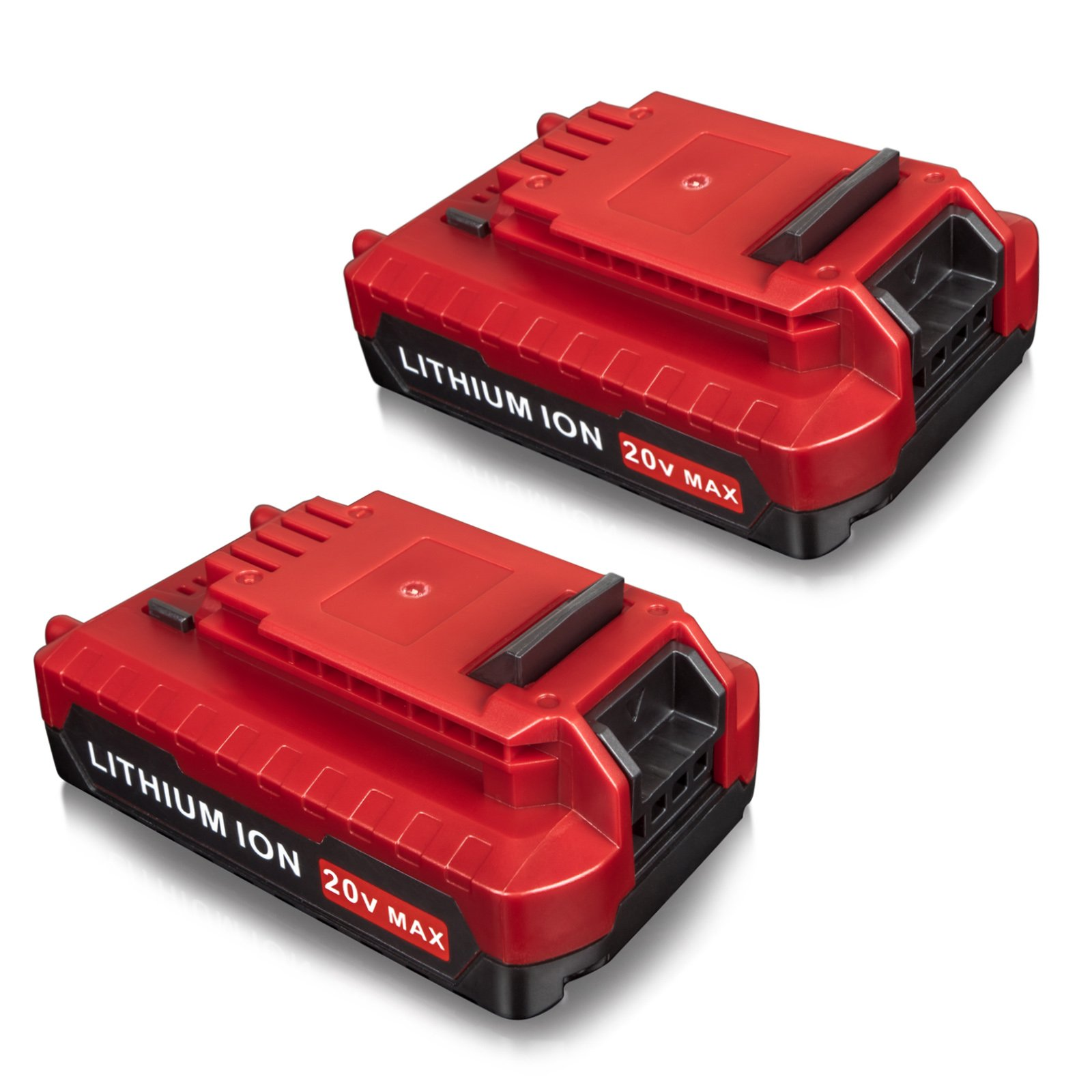 FLAGPOWER 20V MAX 2.0AH Lithium Battery for Porter Cable PCC685L PCC680L Cordless Power Tools (2PACKS)