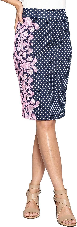여자의 높은 허리 니트 스트레치 멀티 인쇄 사무실 연필 스커트(S-3XL)-미국에서 만든