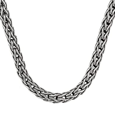 93434b70280c6d Doberman 3Mm Scott Kay Mens Sterling Silver Chain Necklace | Amazon.com