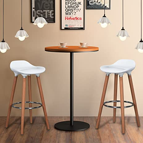 wohomo stylish modern bar stools counter height barstools for home bar kitchen white color set