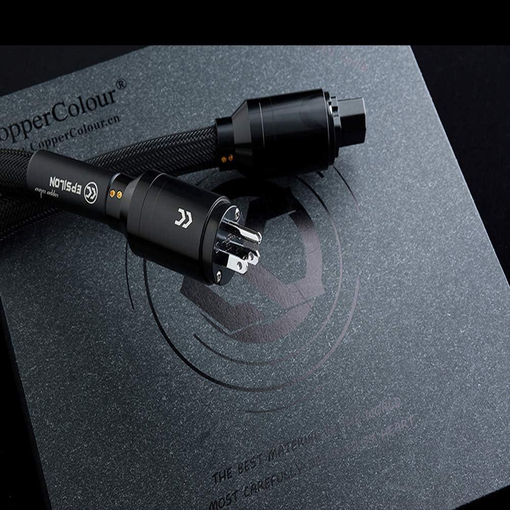 Copper Colour CC Epsilon Audiophile Power Cord OFC 9 mm2 Big US Plug 1.5m 4.92 ft