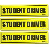 Set of 3 Student Driver Magnet - Reflective Student Driver Sign for Car Student Driver Car Magnet Safety Vehicle Bumper…