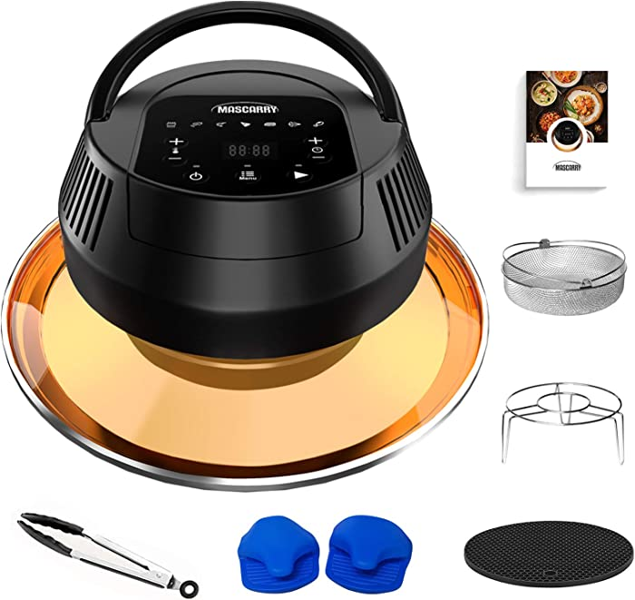 MASCARRY Air Fryer Lid for Instant Pot 6 Quart & 8 Quart, 8 In 1 Air Fryer Lid for Pressure Cooker, Turn Your Pressure Cooker Into Air Fryer in Seconds with LED Touchscreen and ETL Safety Protection for Air Frying