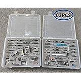 akldigital Kit de 62 Piezas Multifuncional Prensatelas Accesorios para Máquina de Coser Presser Foot Feet Kit Machines Set (62 PCS B)