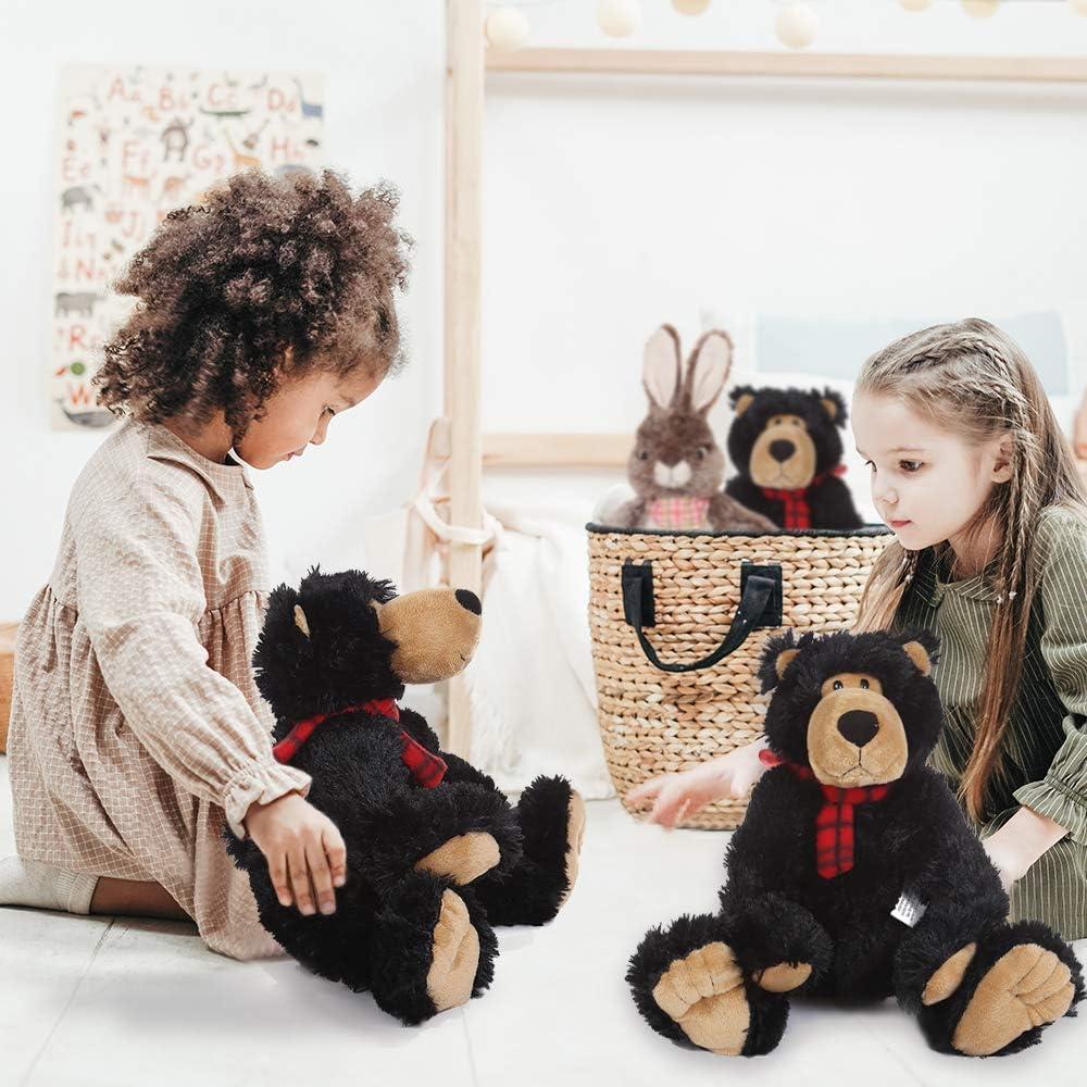 AMERLL Soft Teddy Bear Stuffed Animal Plush Bear Durable Stuffed Animal Teddy Bear Plush Toy Gifts for Toddler Girls Kids,Black,15.7 inches: Toys & Games