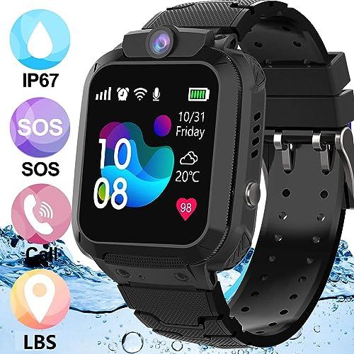Smart Watch for Kids, TKSTAR Waterproof Kids Smart Watch GPS Kids Phone Smart Watches with SOS Two-Way Call Voice Chatting Christmas Birthday Gift Girls Boys