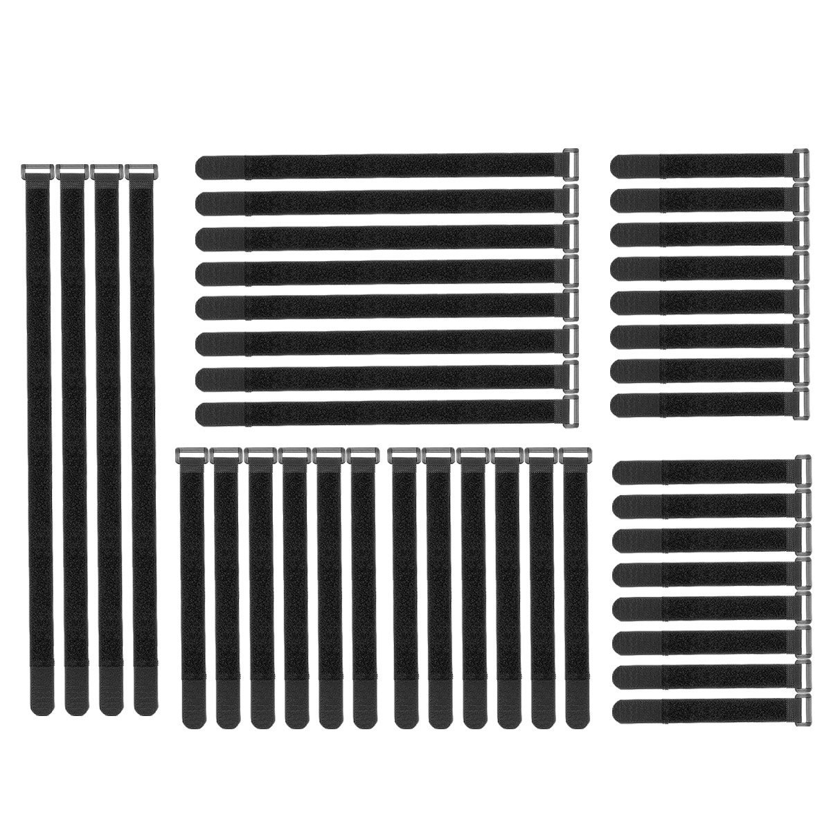 40 Pack Cable Straps,Cable Ties,Reusable Fastening Cord Ties for Cord Cable Management,Black