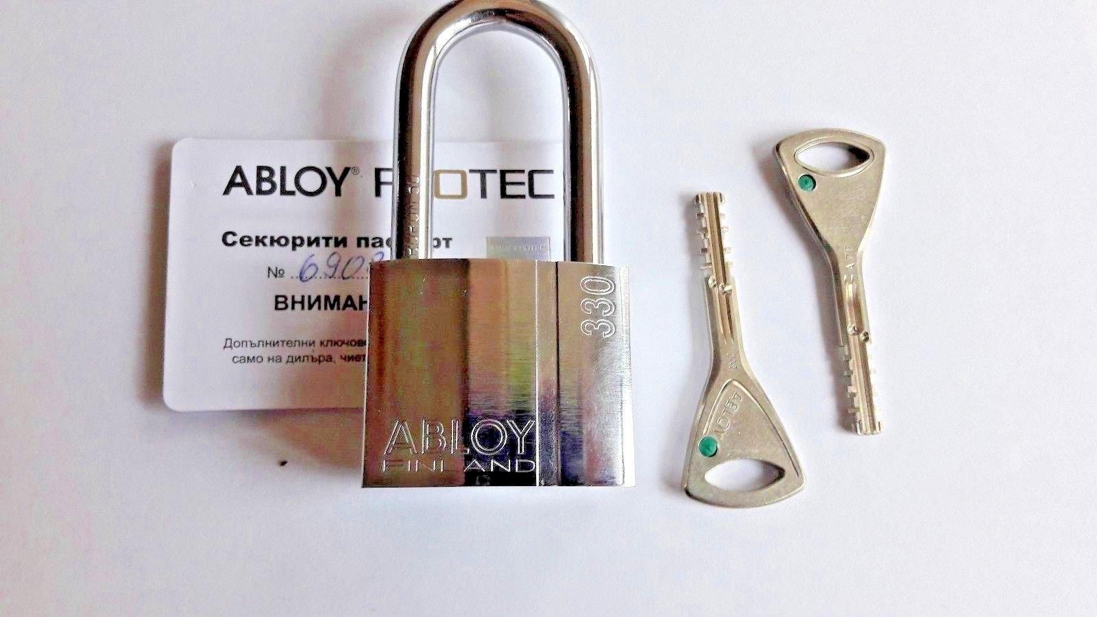 Abloy PROTEC Padlock PL 330 - 25/50/100mm Shackle - 2 Keys - Reinforced Heavy Duty Padlock - Bike Lock by Abloy (50 mm shackle)