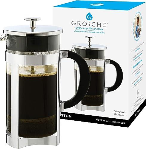 GROSCHE Boston Premium French Press Coffee and Tea Maker 350 ml 11.8 fl.oz