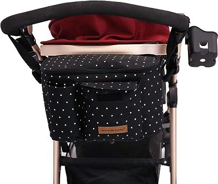 Oferta amazon: Bolsa Organizadora de Cochecitos para Mamá,Bolsa Carrito Bebe Súper Liviana, Multifuncional de Gran Capacidad para Almacenar 31x 20 x18 cm (Negro)