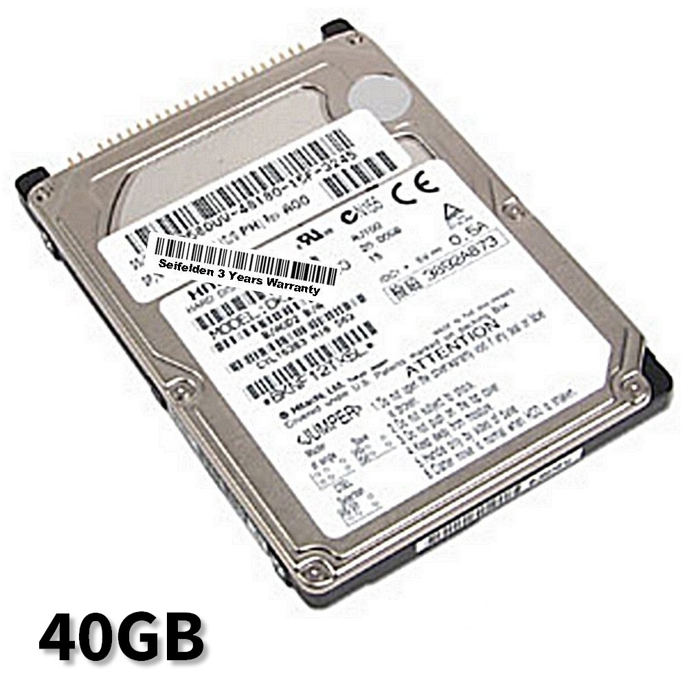Seifelden 40GB Hard Drive for Acer TravelMate 212TX 212TX 212TXV 212TXV 213T 213T 213TXV 213TXV 220 220 2200 2200 222 X 222X 223 X 223X 223XC 223XC 225 X 225X 225XC 225XC (Certified Refurbished)