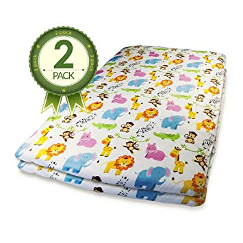 pack n play fitted crib sheets 2 pk jungle animal print