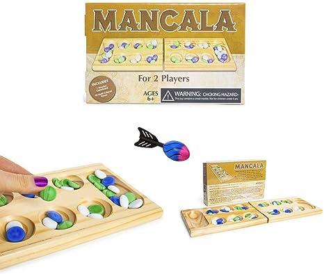 Juego de Mesa clásico de Mancala con Piedra de mármol y Juego de ...
