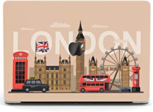 Wonder Wild Case for MacBook Air 13 inch Pro 15 2019 2018 Retina 12 11 Apple Hard Mac Protective Cover Touch Bar 2017 2016 2020 Plastic Laptop Print London Pattern Big Ben Eye Red Phone Booth Bus